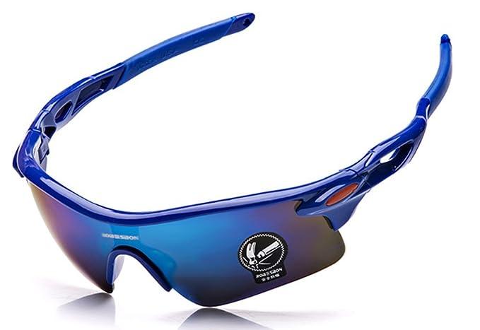 Carfia Sport Sonnenbrille UV400 Schutz Polarisierte Sonnenbrille Sportbrille für Herren Damen, 5 Wechselbare Linsen (D)