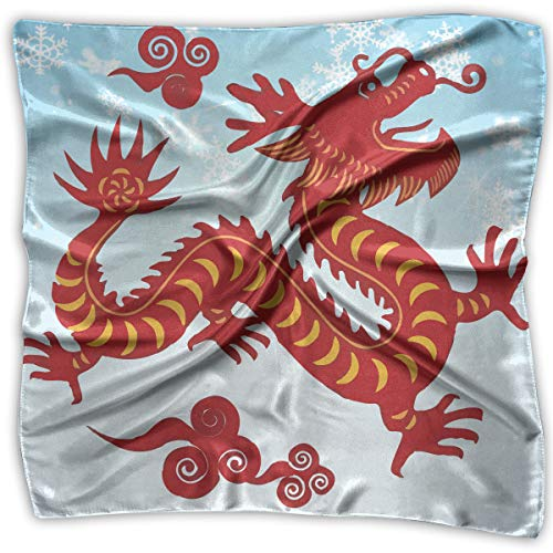 Handkerchiefs Chinese Embroidery (Dragon Chinese Women's Square Scarf Headdress Multi-Purpose Fashion Scarves)