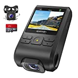 APEMAN Dash Cam, Front and Rear Camera for Cars FHD 1080P IPS Screen, Support GPS, SD Card Included, 170°Wide Angle, Motion Detection, Night Vision, G-Sensor, Parking Monitor, Loop Recording, WDR