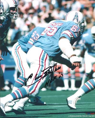Elvin Bethea Signed - Autographed Houston Oilers 8x10 inch Photo - Hall of Famer