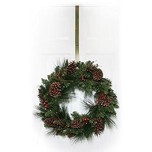 Adjustable Wreath Hanger - Antique Brass 3