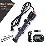 Orlushy Submersible Aquarium Heater 100W for Marine Reef Fish Tank Sump