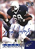 1996 Pro Line Autographs Blue #32 Andre Johnson Auto - NM-MT