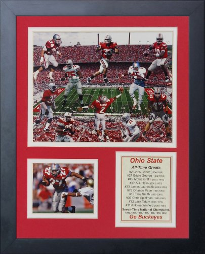 Legends Never Die Ohio State Greats Framed Photo Collage, 11 by 14-Inch
