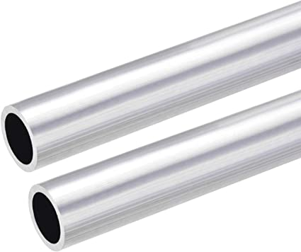 sourcing map 6063 Aluminio Redondo Tubo 26mm OD 18mm Interior Di/ámetro 300mm Longitud Sin Costura Recto Tubo