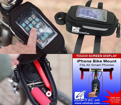 VELOTRAC Bag iPhone Integrated Kit with Apps by Velotrac