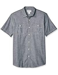 Men's Regular-fit Short-Sleeve Chambray Shirt