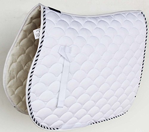 Professional Equine Horse Quilted English Saddle PAD Trail Dressage 7296WH