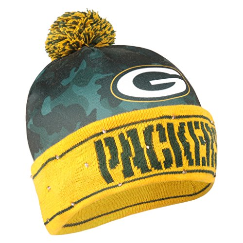 (Green Bay Packers Camouflage Light Up Printed Beanie)