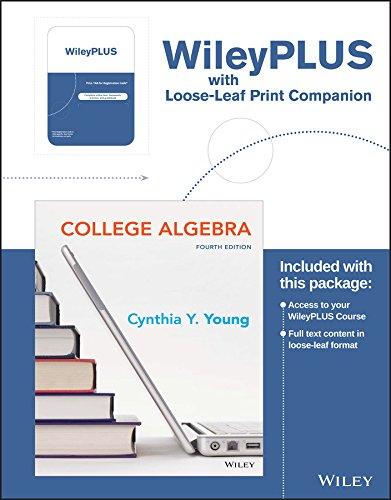 College Algebra, 4e WileyPLUS Learning Space Registration Card + Loose-leaf Print Companion