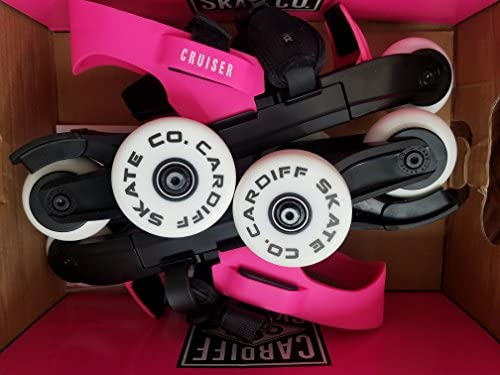 Cardiff Skate Cruiser Youth - Roller Ajustable sur Chaussures - Rose