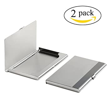Amazon wovte portable and steady stainless steel metal wovte portable and steady stainless steel metal business name card credit card holder id card case colourmoves