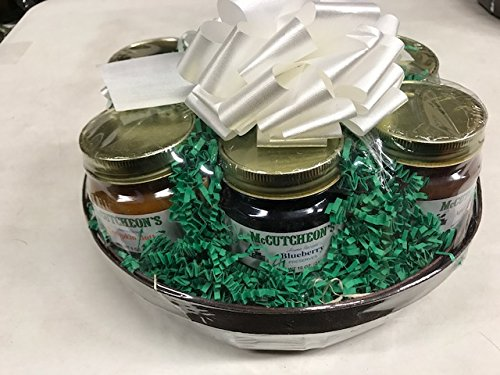 - McCutcheon`s Mini Favorites Sampler Gift Basket with Apple Butter, Pumpkin Butter, Blueberry Preserves, Peach Preserves, Strawberry Preserves, and Apricot Preserves