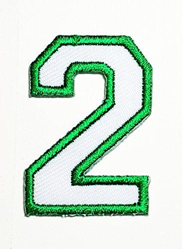 green applique numbers - 5