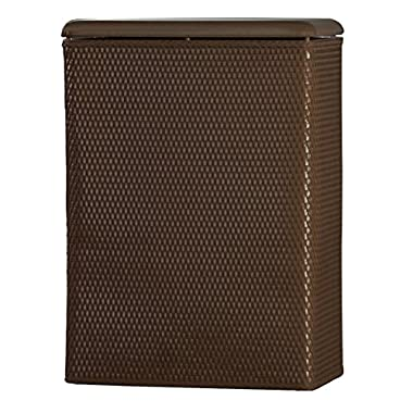 Lamont Home Carter Family Size Wicker Laundry Hamper with Coordinating Padded Vinyl Lid, Chocolate