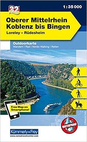 Mittelrheintal Karte.Deutschland Outdoorkarte 32 Oberer Mittelrhein Koblenz Bis
