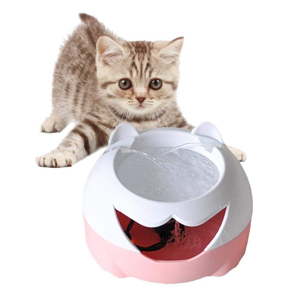 FancyU Dispenser per Fontana per Animali Domestici, erogatore Automatico di Acqua di Tipo USB a circolazione Automatica per Cani e gatti-3L