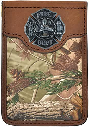 Custom Badger Fire Fighter Maltese Cross Realtree AP Camo Money Clip