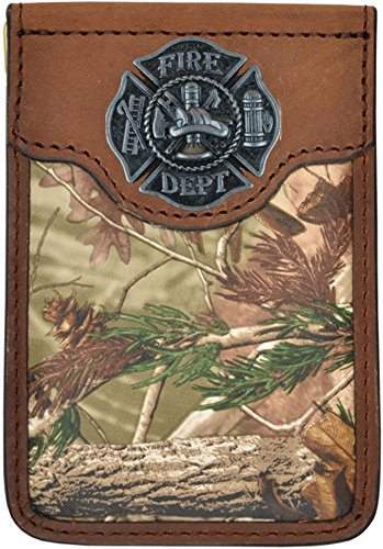 Maltese Money Clip (Custom Badger Fire Fighter Maltese Cross Realtree AP Camo Money Clip)