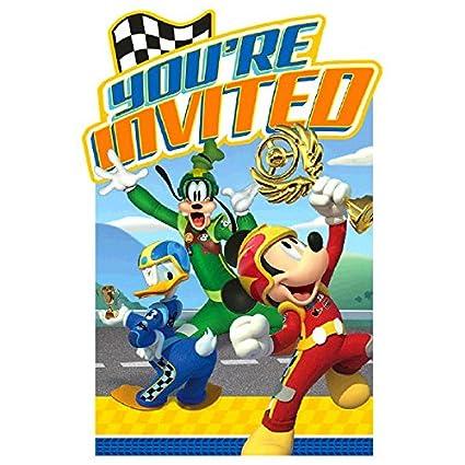 Amazon Com Disney Mickey Roadster Postcard Invitations Party