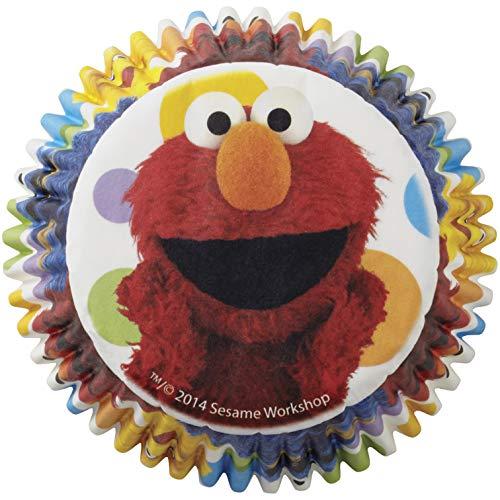 Wilton 50 Count Sesame Street Cupcake Liners, Multicolor