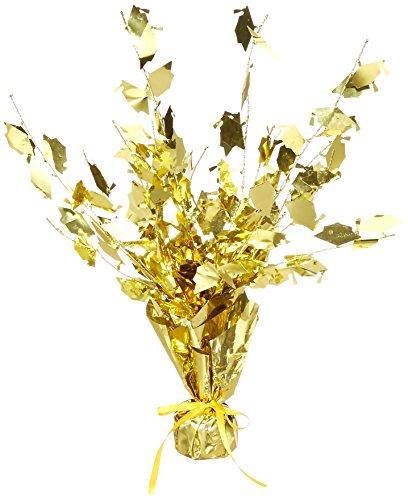 Graduate Cap Gleam 'N Burst Centerpiece (gold) Party Accessory  (1 count) (1/Pkg) -