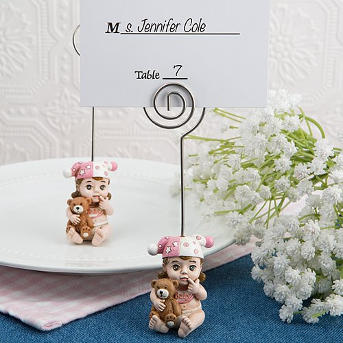 Fashioncraft Vintage Baby Place Card Holders (192, Pink) by Fashioncraft
