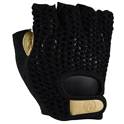 Nashbar Crochet Gloves - BLACK, MEDIUM