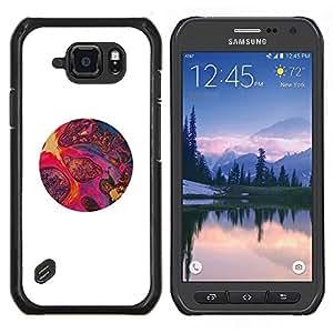Stuss Case / Funda Carcasa protectora - Magma Arte Rosa Rojo Púrpura Stones Circle - Samsung Galaxy S6 Active G890A