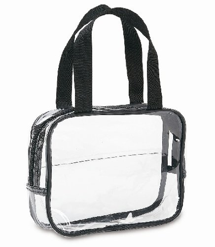 Clear Carry Bag Handles Black product image