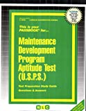 Maintenance Development Program Aptitude Test USPS, Jack Rudman, 0837336090