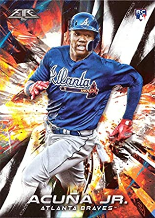 Image result for 2018 topps fire ronald acuna jr