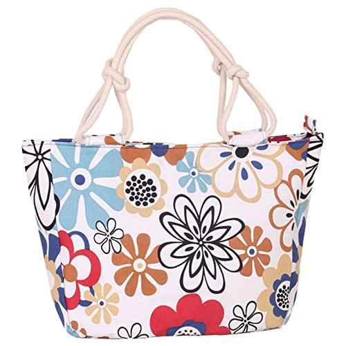 Women's Canvas Shopping Tote Handbag Large Multicolored Dating Style Hobo Bag Floral Grocery I Camping Picnic Bag HM Gift amp;DX tBxq5Rgg