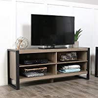 WE Furniture 58 Industrial Wood TV Stand Console, Driftwood