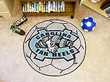 Fan Mats UNC North Carolina-Chapel Hill Tar Heels Soccer Ball Rug, 29'' Dia.