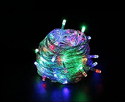 10M 32.8ft 100 LED White Lights Decorative Christmas Party Festival Twinkle String Lamp Bulb With Tail Plug 110V US