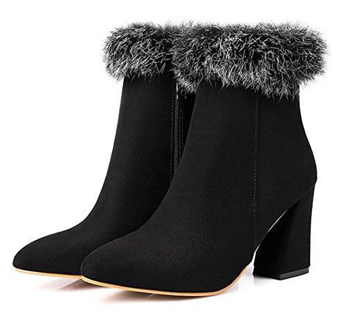 Noir Bottines Style Aisun Femme Hiver Pointu Spécial Bout gxaTATq06
