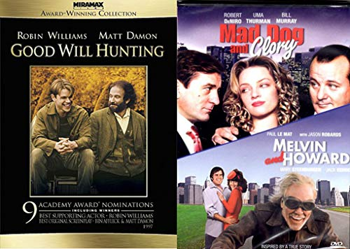 Dromedy 3-Movie Collection - Good Will Hunting (Miramax Award-Winning Collection), Mad Dog and Glory & Melvin and Howard 3-Movie Bundle