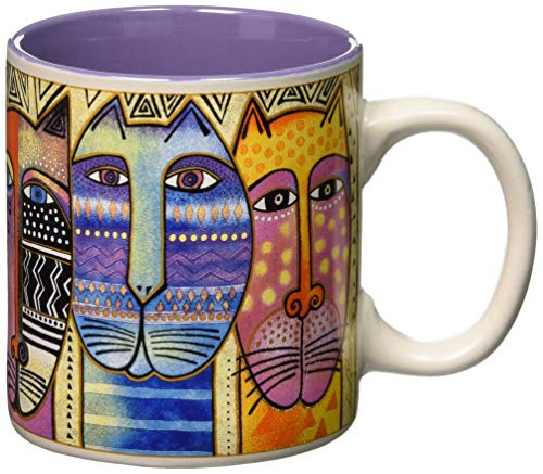 Laurel Burch 117479 Artistic Mug Collection, Tribal, Multicolor