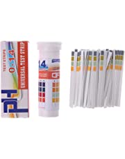 Mentin Bandelettes de Test de pH en Bouteille 150 Bandes Gamme complète 0-14 pH Indicateur alcalin Acide Urine Salive Universelle