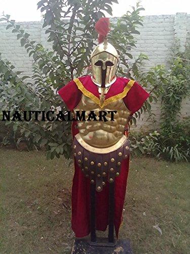 NAUTICALMART Medieval Brass 300 Spartan Set Muscle Armor