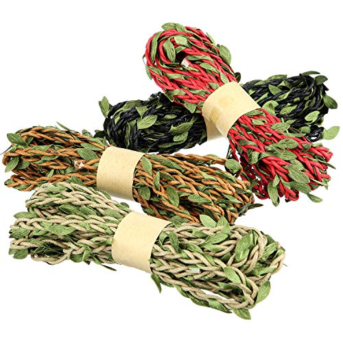 4 Roll Leaf Garland Wall Hanging Artificial Burlap Vine Plants Greenery Decorations for Jungle Themed Party, DIY Craft Party/Fence/Butterfly Gardens/Home Gardens/Wedding