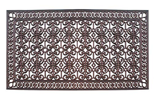A1 Home Collections A1HCCL68 Doormat A1HC First Impression Rubber Paisley, Beautifully Hand Finished,Thick, 36X72, Copper Estate