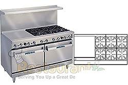 Imperial Commercial Restaurant Range 60 With 6 Burners 24 Griddle 2 Standard Ovens Nat Gas Ir 6 G24
