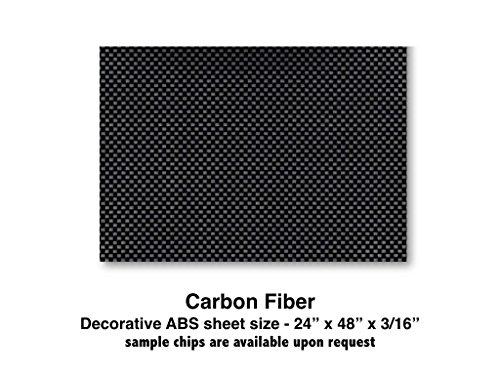 Carbon Fiber ABS Plastic Sheet for boat Instrument Panels 24