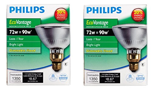 Philips 419432 EcoVantage PAR38 45 Watt Equivalent Spot Dimmable Standard Base Light Bulb 1pk x2