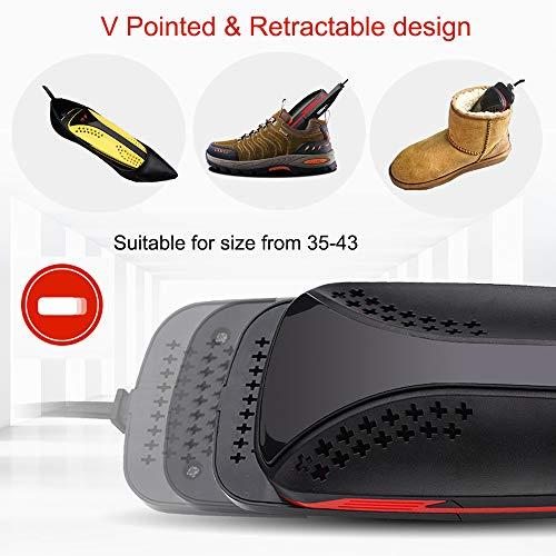 INTSUN Electric Shoe Dryer with Timer, Stretchable, Portable & Noiseless Boot Dryer/Glove Dryer, Sanitize & Eliminate Odor(110V)