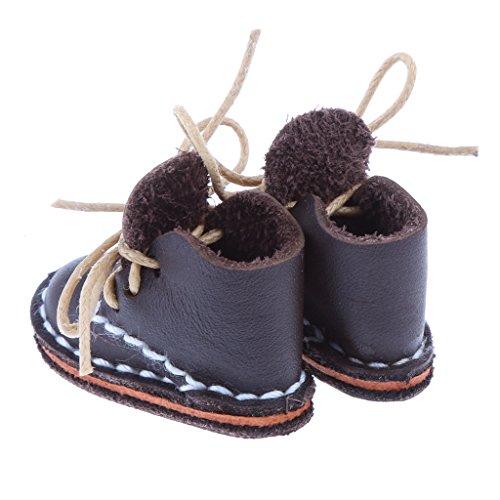Braun Stiefeletten Puppen 1 MagiDeal Braun Einstellbarer für mit Schuhe Zubehör Schnürsenkel 6 BJD Puppe 5vqa7