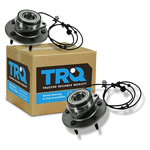 1500 Hub Pickup (TRQ Front Wheel Hub & Bearing Pair Set for 00-01 Dodge Ram 1500 Pickup Truck)