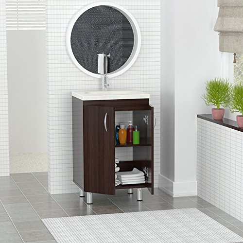 Inval Modern Single Sink Bathroom Brown Floor Cabinet 18 inch GB-028 price